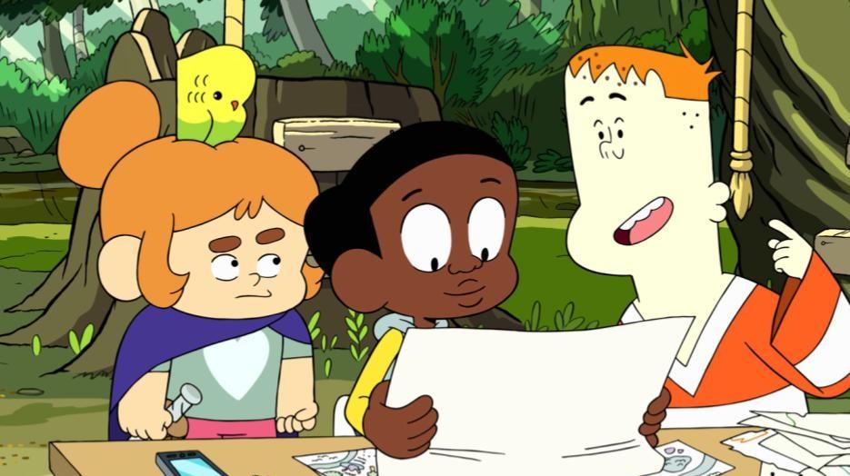 Greg lendo com amigos