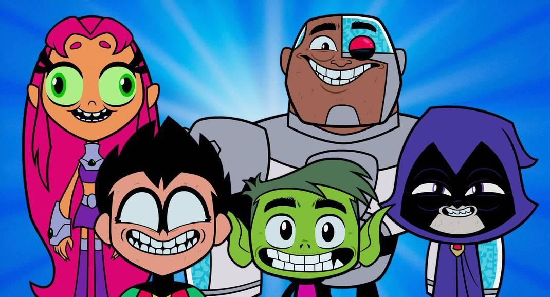 Personagens Jovens Titãs em ação